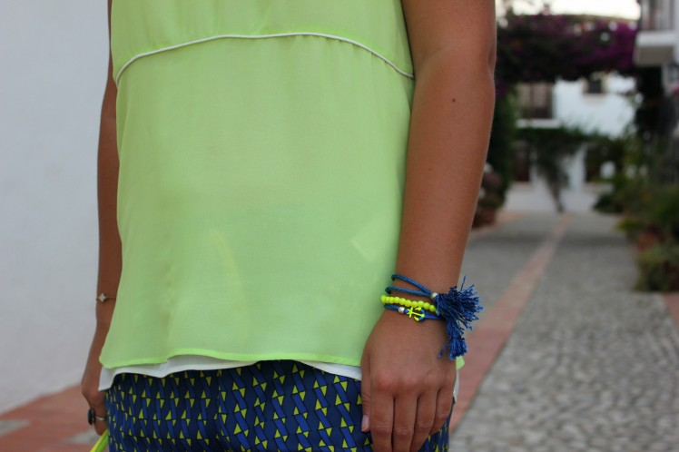 klein blue & lime green