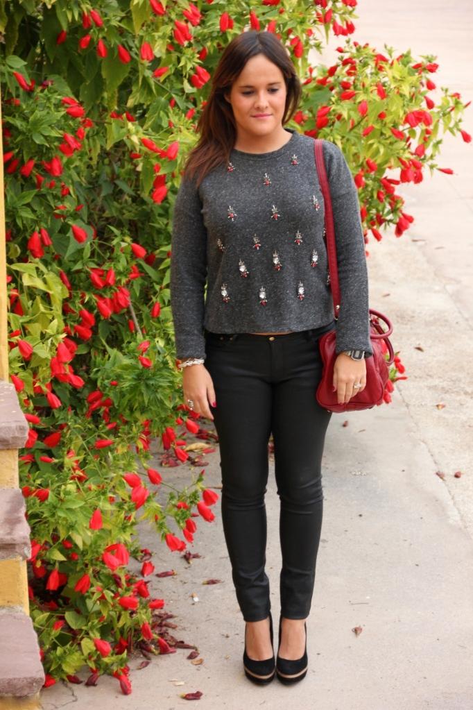 chandelier sweatshirt sudadera abalorios