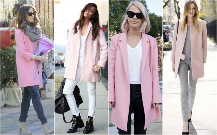 pastel pink coat