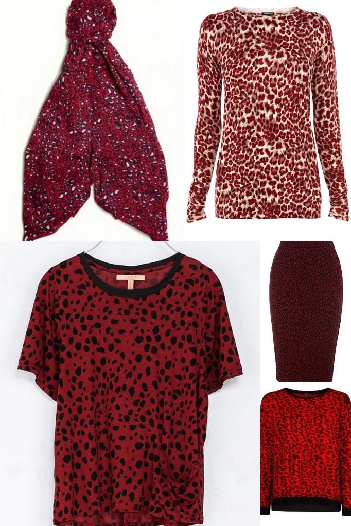 red leopard print
