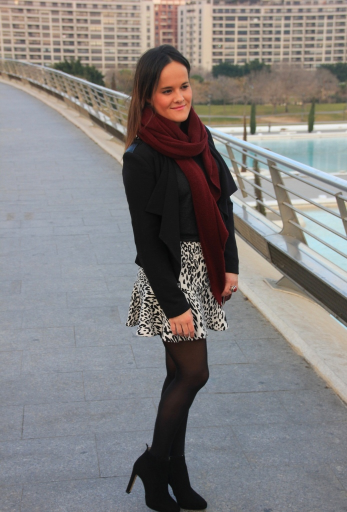 black white burgundy