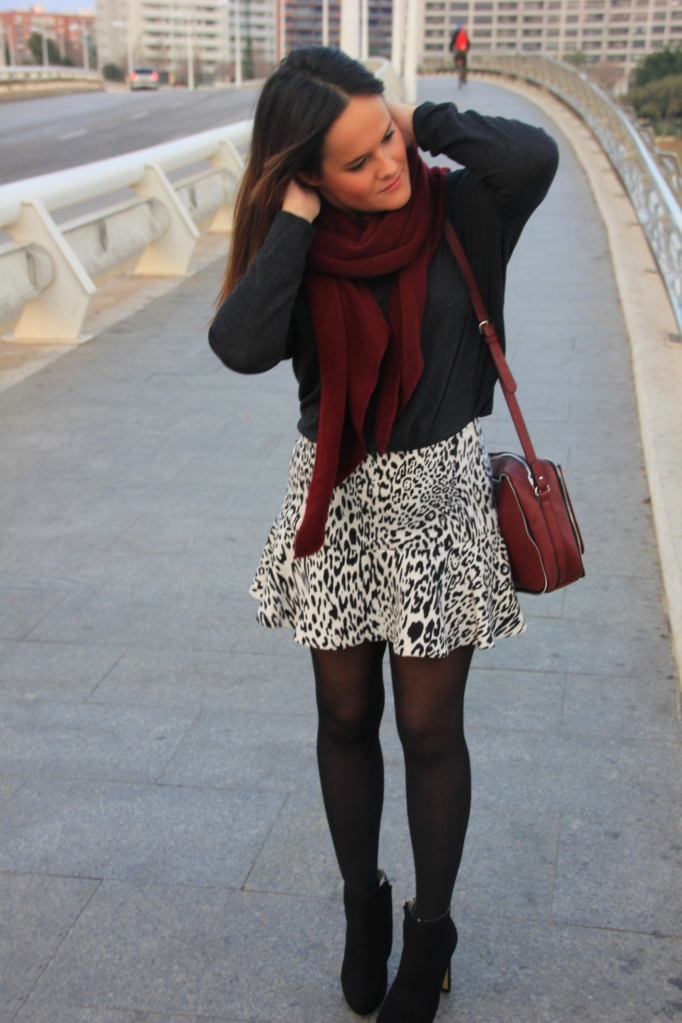 cebra skirt animal print black and white