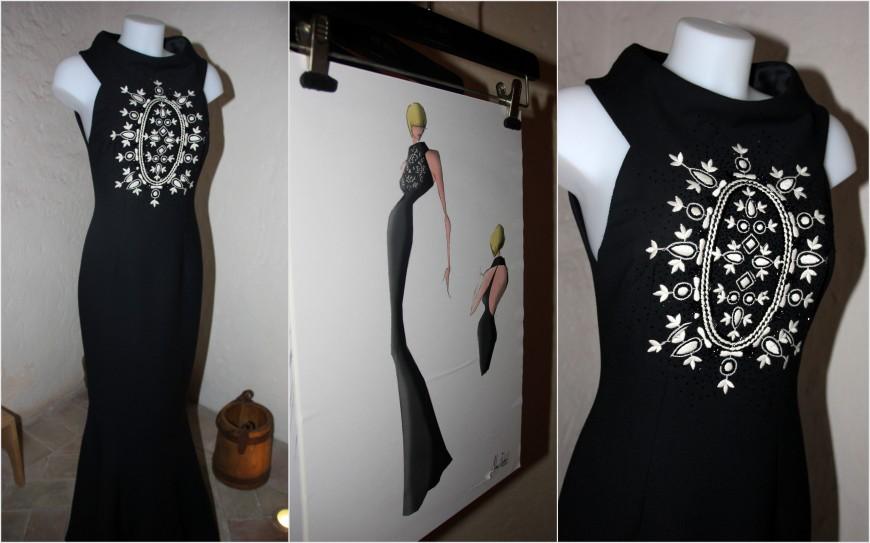 alex vidal vestido negro