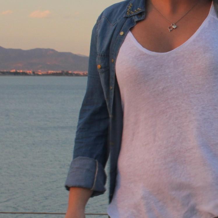 denim shirt outfit