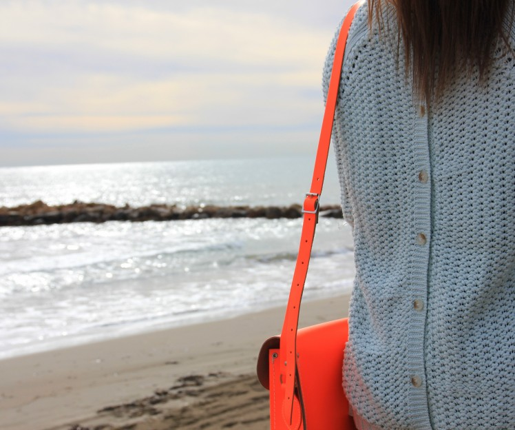 mint jumper orange satchel