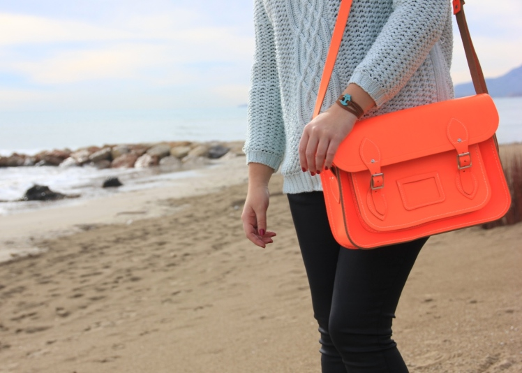orange neon satchel