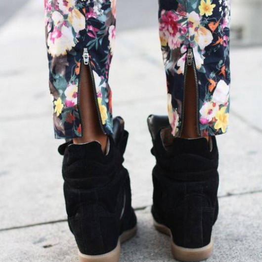 sincerely jules flower trousers