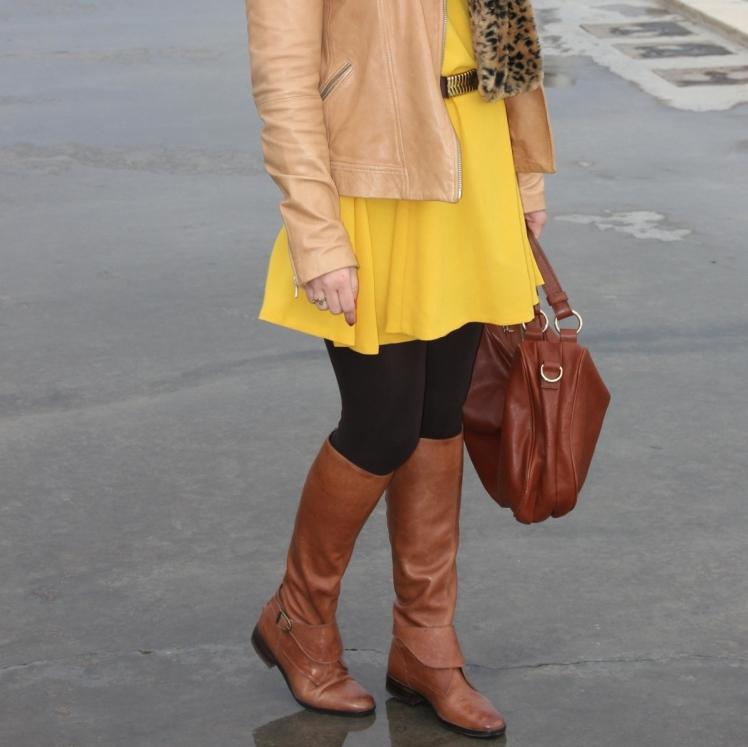 vestido amarillo zara