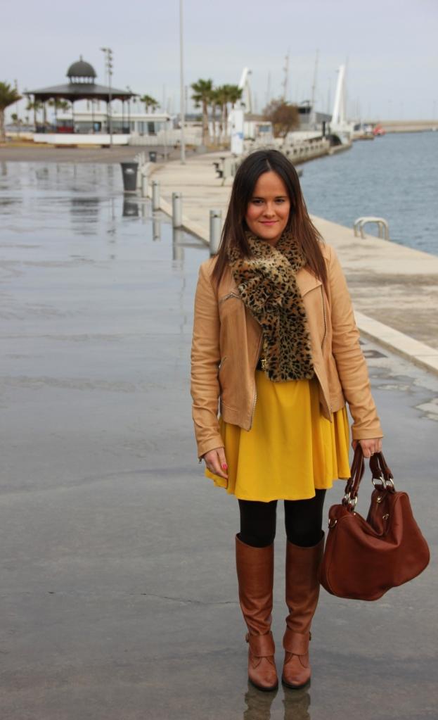 yellow dress zara