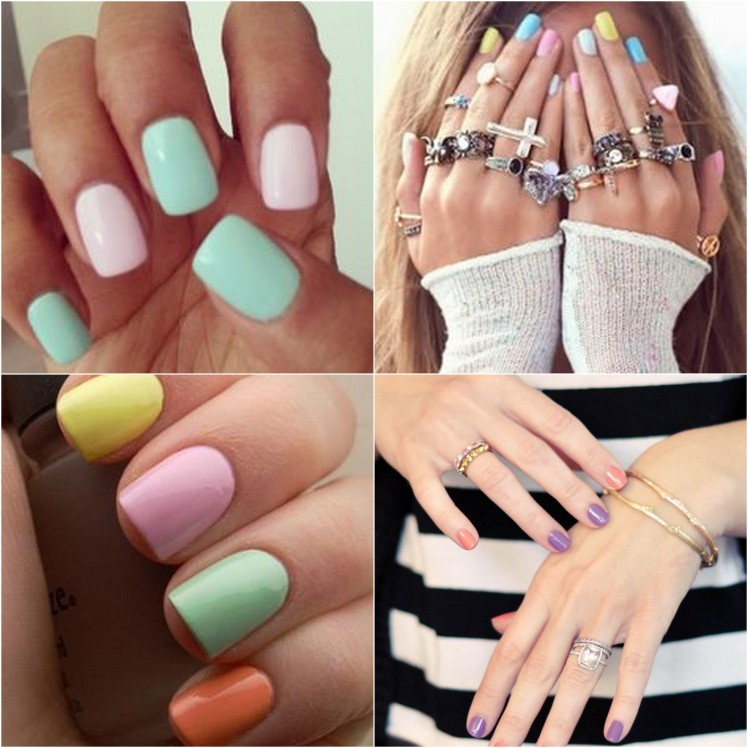 coloured nails