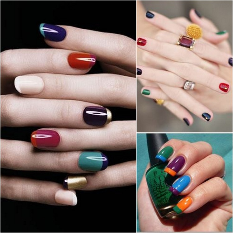 multi color nails