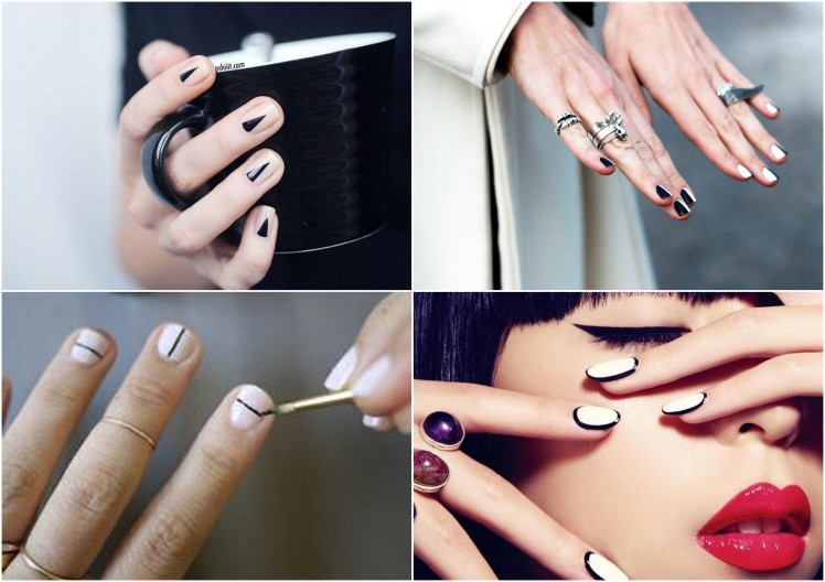 nails with black stripe