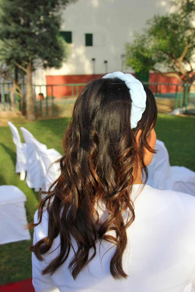braid pastel blue turban