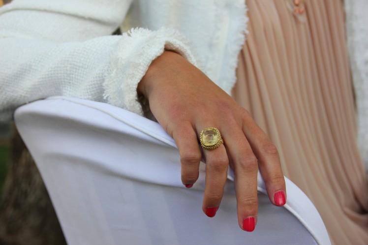chaqueta blanca de tweed