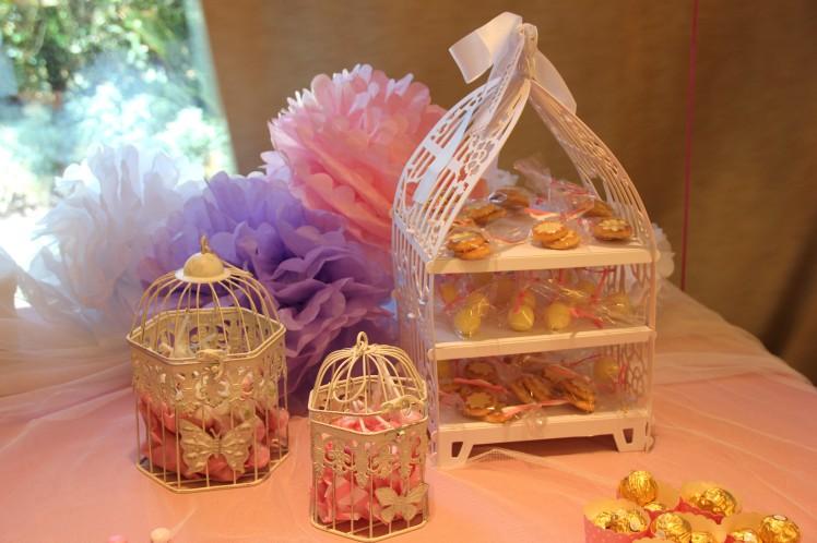 mesa de dulce para una comunión