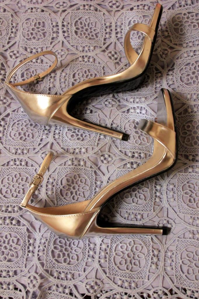 silver high heel sandals