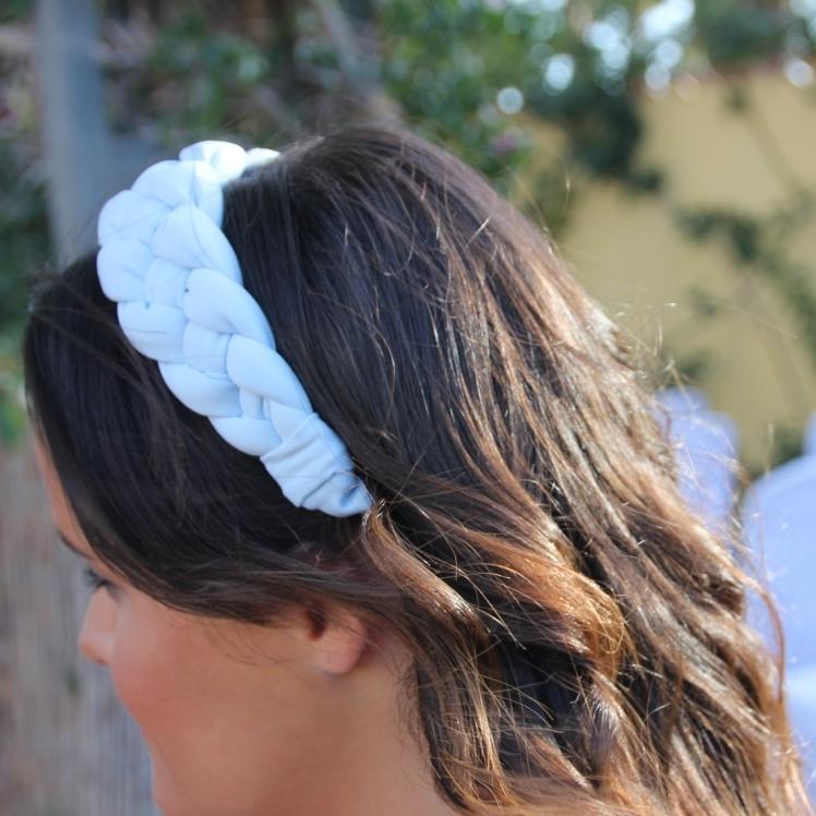 turbante boda azul pastel