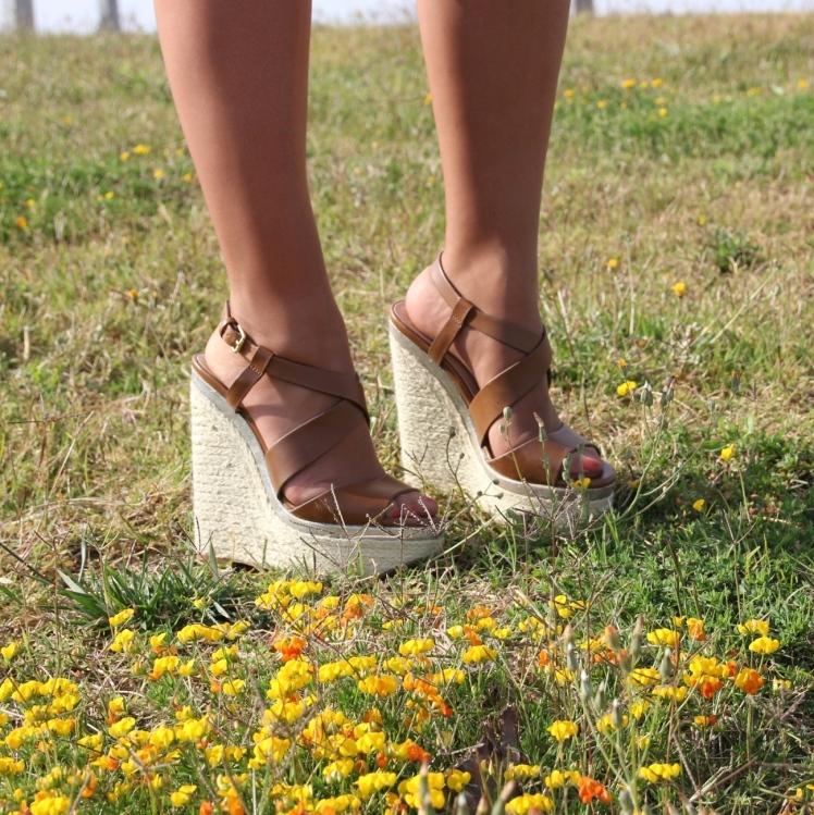 cuñas marrones brown wedges