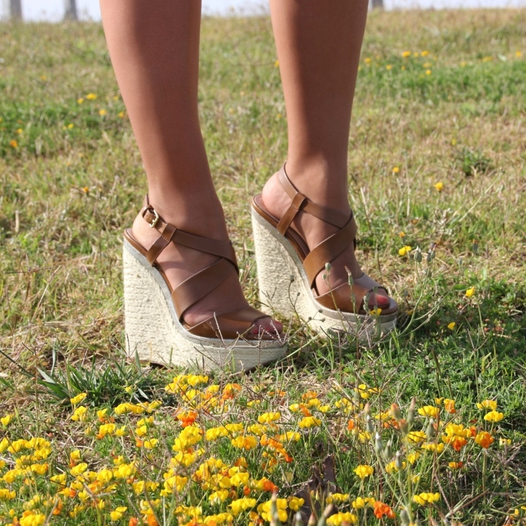 cuñas marrones brown wedges