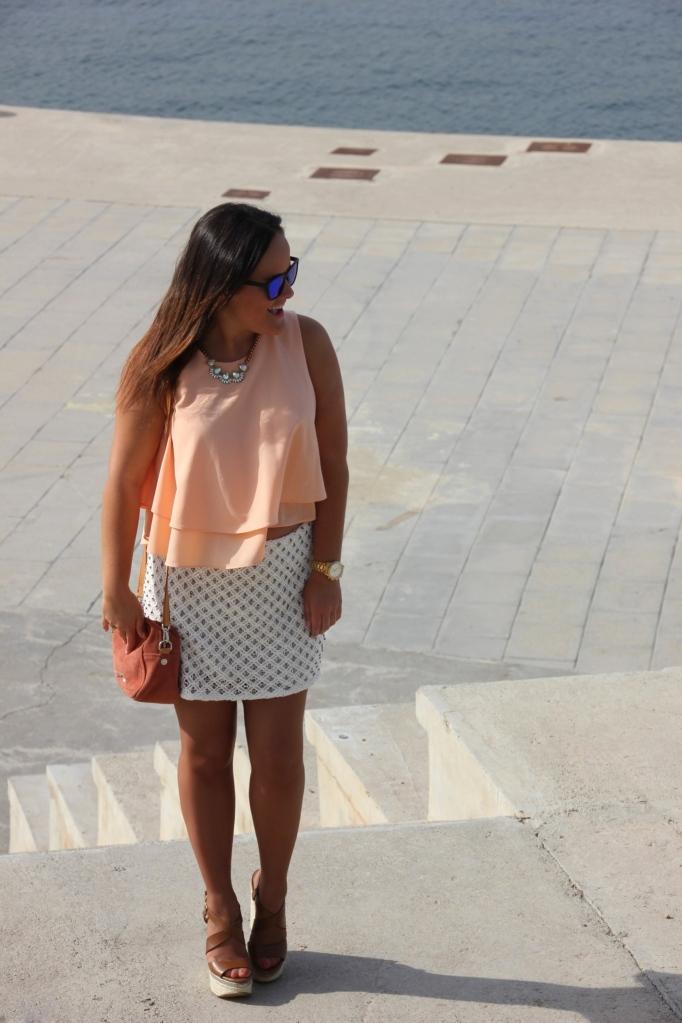 falda encaje blanca zara