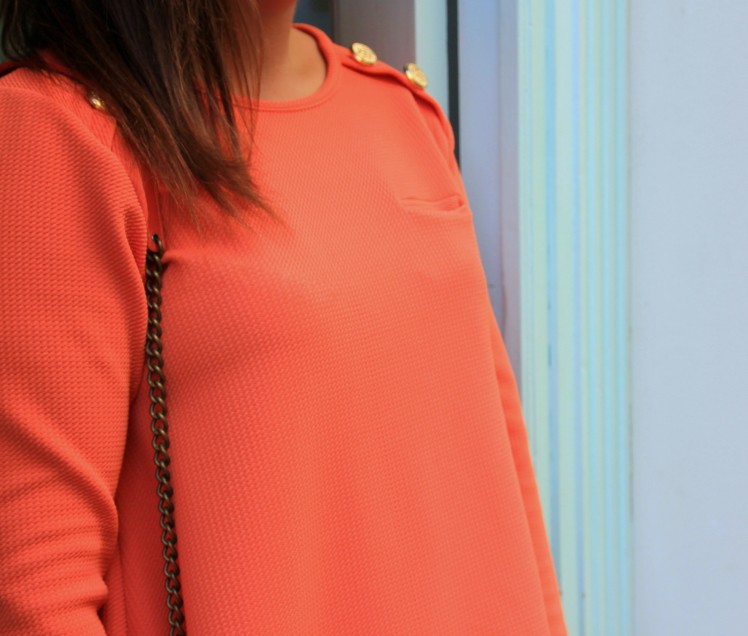 mini vestido naranja