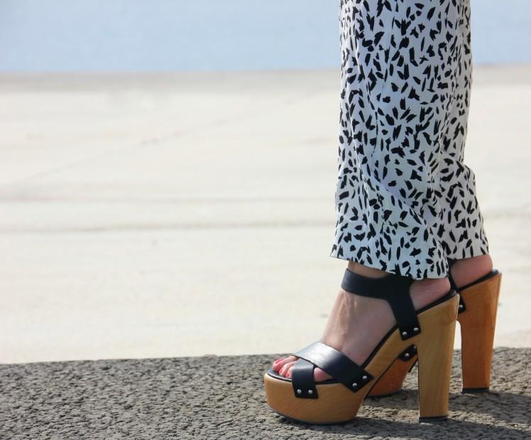 wood heels sandals tacon madera