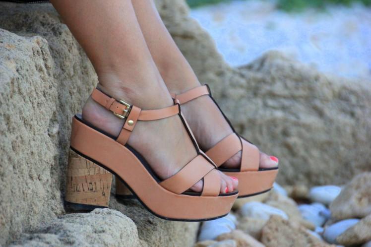 cork sandals_sandalias corcho stradivarius