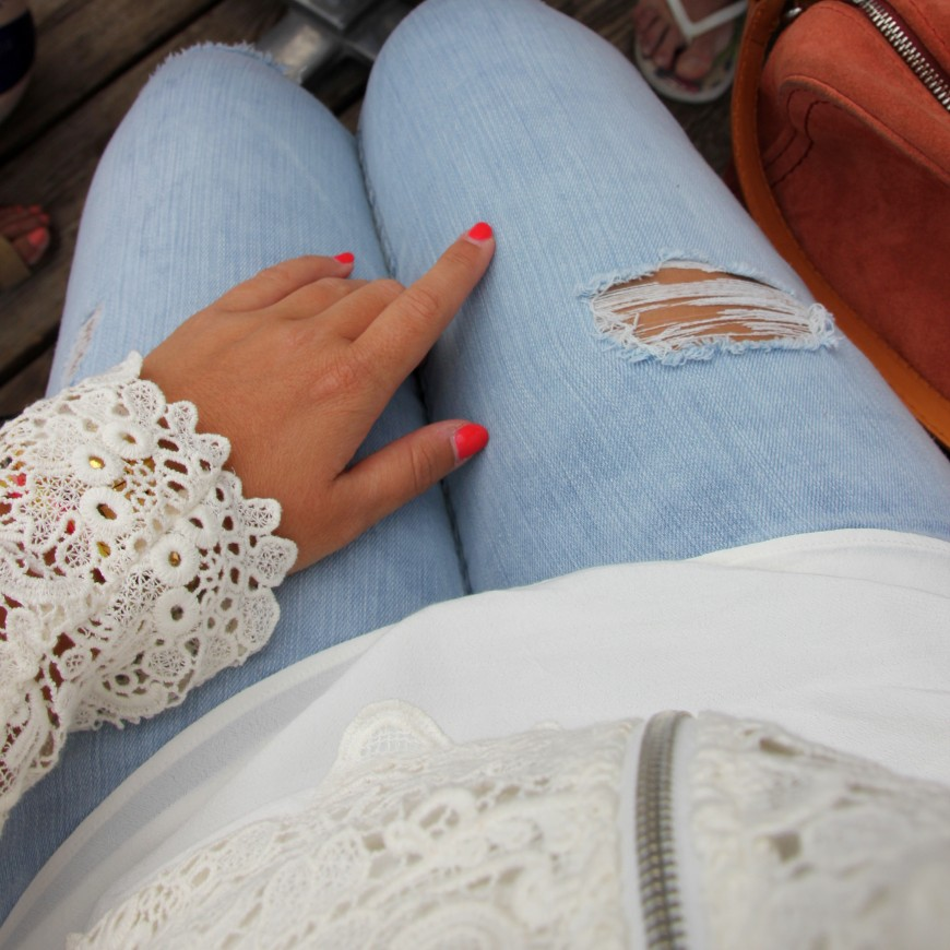 crochet white jacket
