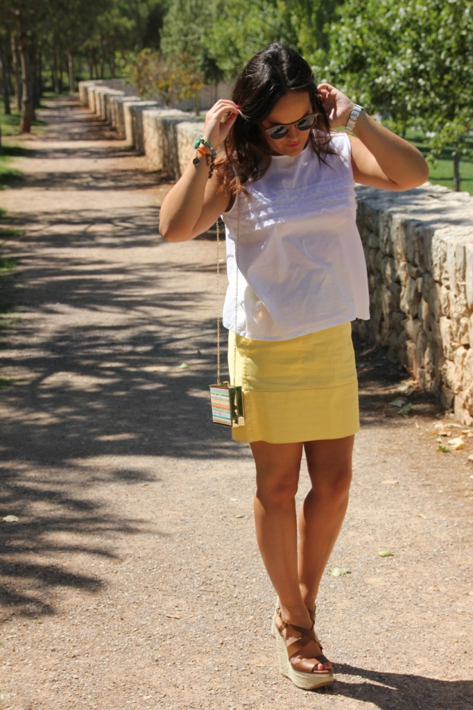 yellow and white outfit
