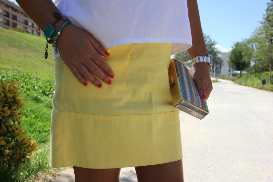 Falda amarilla Love Vega
