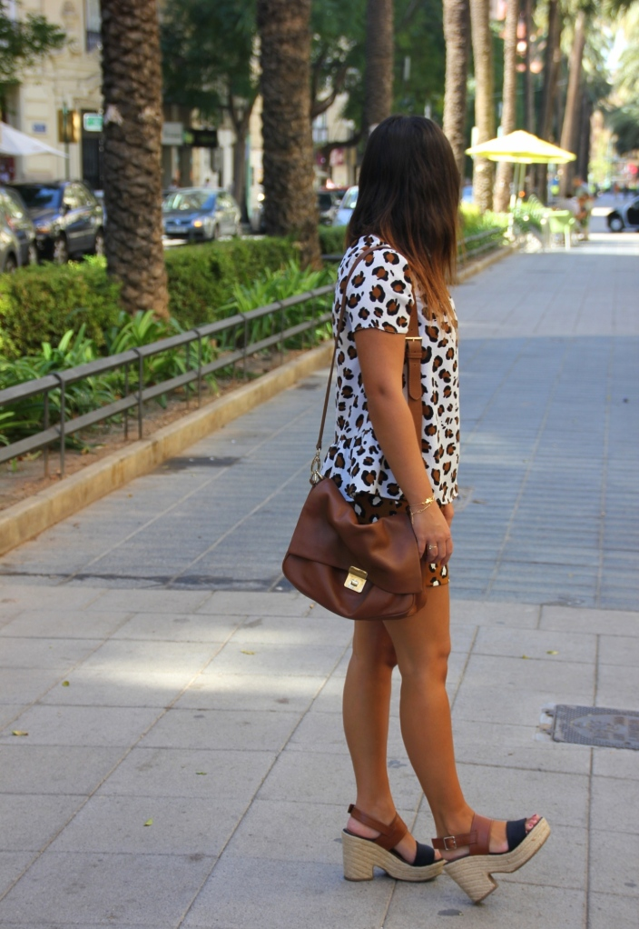 look animal print zara