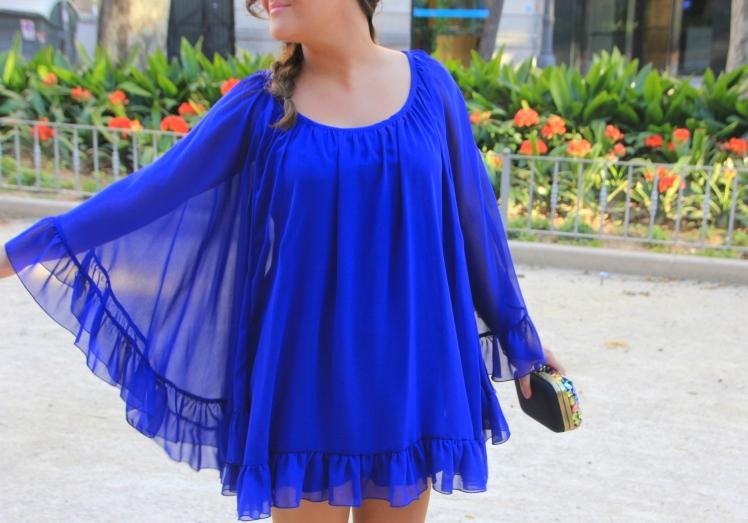 klein blue dress