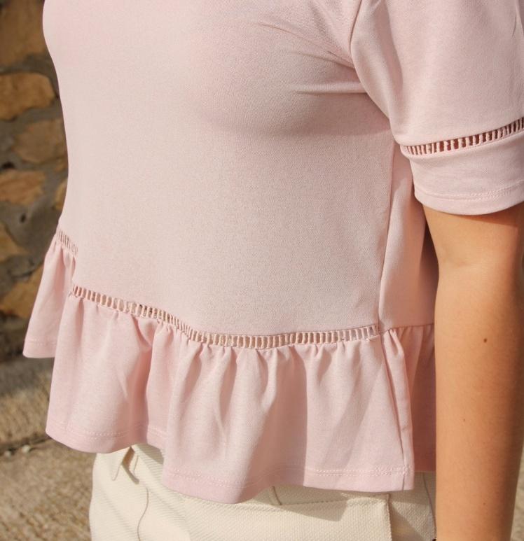 n.camiseta rosa peplum