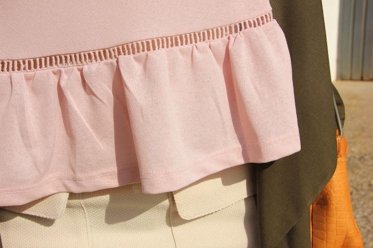 n.pink peplum shirt
