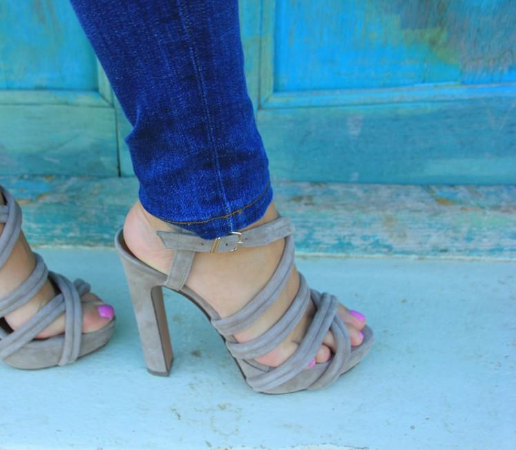 suede summer sandals