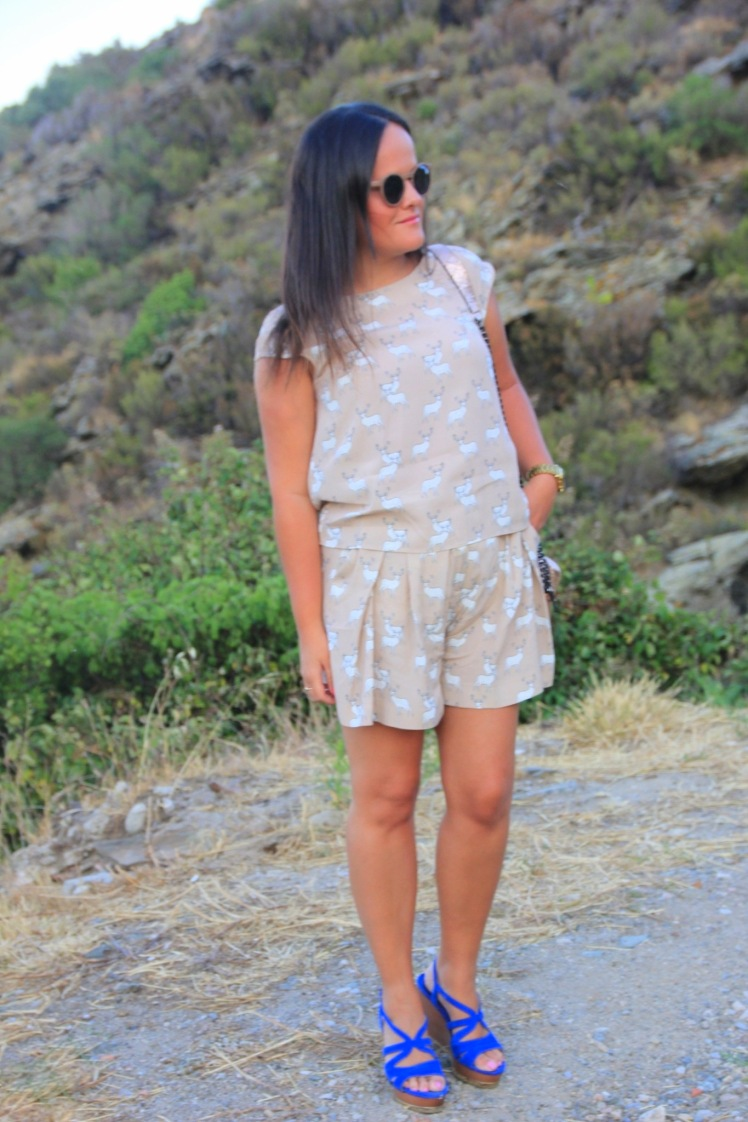 conjunto short blusa zara renos