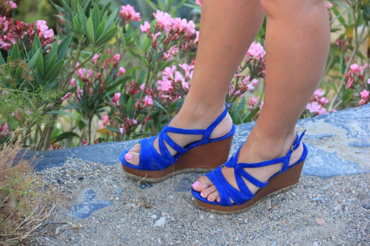 sandalias azul klein uterque