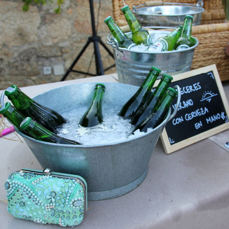 beer table wedding