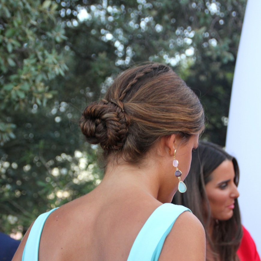 braid bun wedding