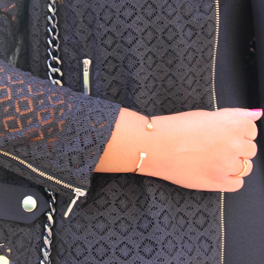crochet black jacket