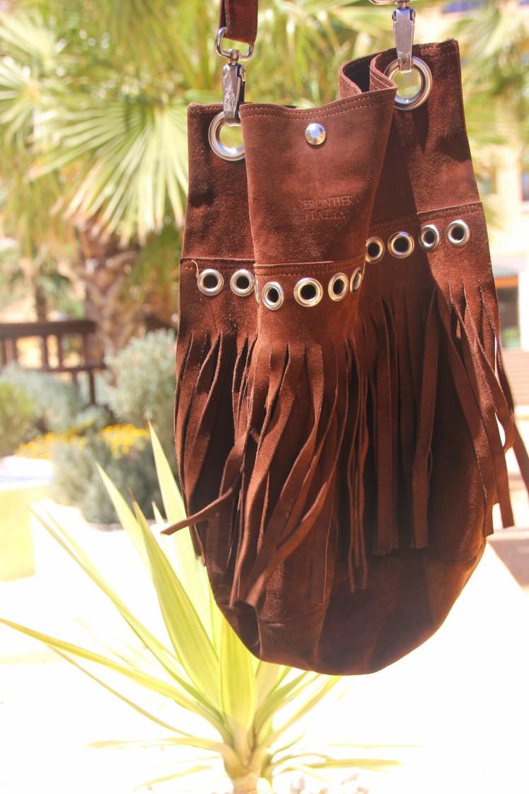 bolso ante flecos marrón_suede fringe bag