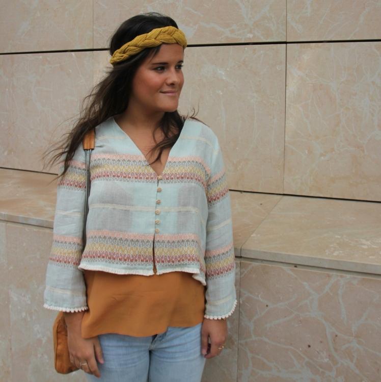 chaqueta etnica zara_ turbante mostaza