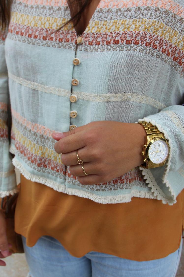 chaqueta tonos pastel rayas zara